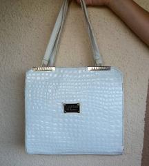 Бела чанта со принт REZZ