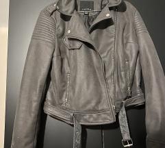 Siva plis jakna