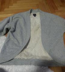 Zara novo sivo svetkavo so krzno