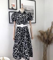 Cow print fustan
