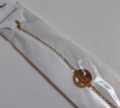 Нова алка од медицински челик  златна