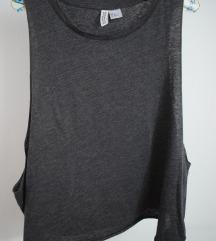 Сива спортска блуза по прерамки