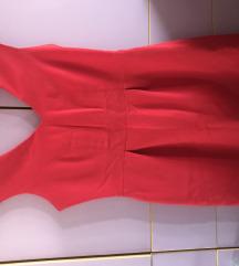 Краток црвен фустан