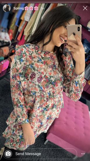 novo cvetno fustance