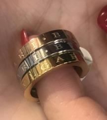 Troboen BVLGARI prsten od medicinski celik