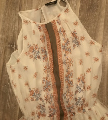 Massimo Dutti фустан чиста свила резз