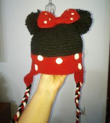 Minie mouse рачно плетено капче