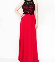 Se prodava nov svecen fustan Crveno/Crn