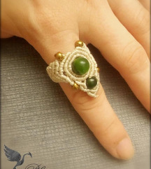 Макраме прстен