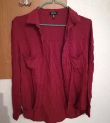 Bershka - бордо кошула
