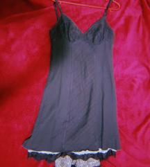 Долг сивo - маслинест фустан на Стефанел