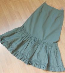 NOVO Maslinesta suknja S