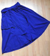 Royal blue midi suknja