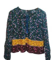 Bershka блуза, 100% вискоза (зелена)