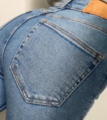ZARA high waist jeans - Светла боја