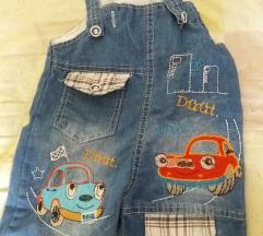 Celosni teksas kratki pantolcinja so preramki