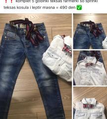 Komplet jeans i kosula teksas