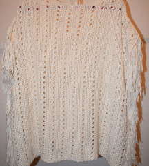 бела блуза/палерина