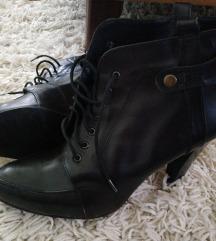 Кожни чизми темо кафена боја, 39