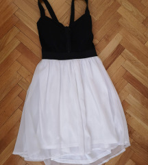 Tally Weijl црно бело фустанче