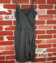 Metalik fustan na preklop