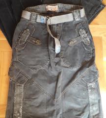 Siva teksas suknja-motordziska