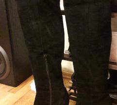 BATA чизми над колена од превртена кожа
