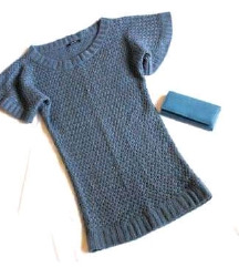 'Reserved' плетен фустан-туника S/M
