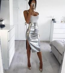 suknja srebrena unikat