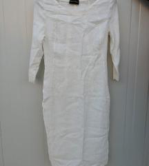 Okitex бел памучен фустан