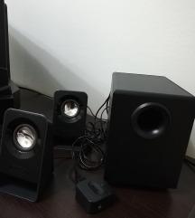 Logitech звучници со бас