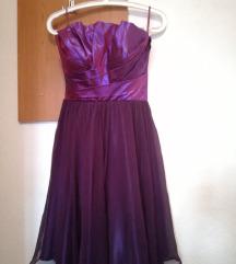Свечен виолетов фустан - намален