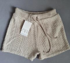 Zara плетени кратки панталони