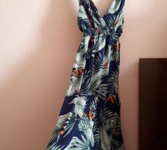 Долг зелен летен фустан