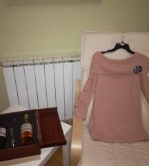 Розе плетена блуза