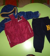Zimska jakna za 6-9 mes+dolni trenerki