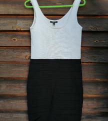 Mango црно-бел фустан