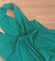Dolg zelen fustan M/L