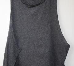 Сива блуза за вежбање, величина М