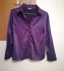 Виолетова свечена кошула