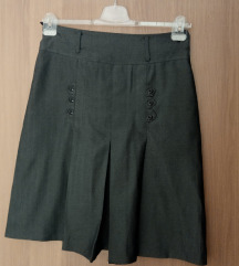 Класична темно сива сукња