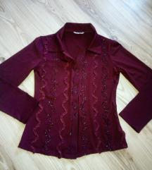 Бордо кошула блуза најубава