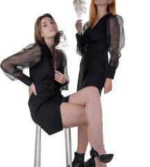 Црн Фустан Со Балон Ракави