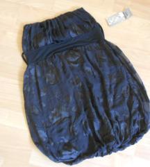 SO ETIKETA Crn puf fustan