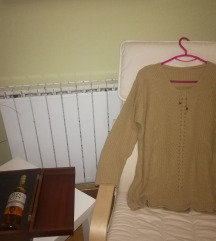 Крем плетена блуза