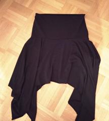 Crna asimetricna suknja