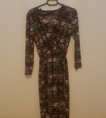 Дизајнерски зебрест фустан