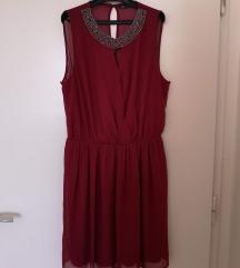 Zara црвен фустан