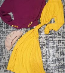 Жолто Zara фустанче