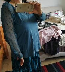 Синотиркизна блуза со тул